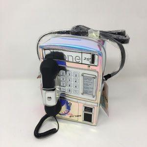 RETRO TELEPHONE HEADSET HOTLINE CROSSBODY